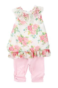 Woven Floral Top & Legging Set (Baby Girls) by Nannette Baby on @nordstrom_rack