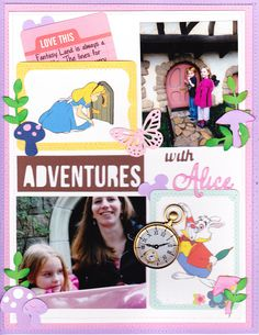 Adventures with Alice - Scrapbook.com - Use Project Life cards on layouts too!
