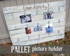 DIY: Pallet Photo Holder (could also be a Christmas Card Holder) via @Jenna_Burger of sasinteriors.net #DIY