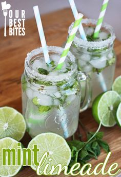 Cafe Rio Copycat Mint Limeade Recipe ~ It's so easy and pretty and delicious!
