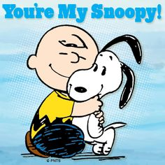 Snoopy is always there for Charlie Brown!