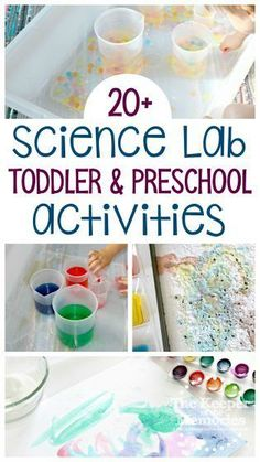 Teach your little kids about all things science with this fun science preschool monthly theme! Explore Biology, Chemistry, Physics, and of course Engineering with lots of kid-friendly activities and experiments. So many awesome ideas for Science For Toddlers, Preschool Science Activities, Sensory Activities Toddlers, Toddler Preschool, Science Classroom, Preschool Learning, Preschool Monthly Themes, Preschool Printables, Science Experiments Kids