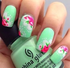 Spring Nails By IG @cassqooner<3<3<3