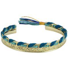 Shashi Faztec Silk Cuff Bracelet