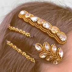 Bad hair day: Ain't nobody got time for that!  Check out our New @pinkpewter embroidered Bobby Pins