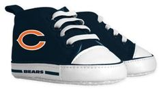 Baby Fanatic Size 0-6M NFL Chicago Bears High Top Pre-Walkers in Orange/Navy