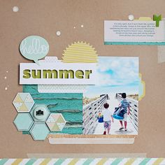 by Kelly Noel using Studio Calico May 2012 kit Hellosummer_35mm like hexagons and spatters