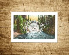 Printable Save the Date Postcard  Meandering by WillowandSass