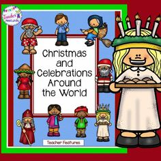 **NO PREP- just print and use** 9 holidays ~ Each holiday celebration includes a poster, writing template and a beginning information sheet.