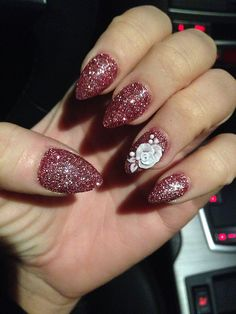 Unique And Stylish Nail Design To Upgrade Your Style 23 3d Nail Designs, Flower Nail Designs, Almond Nails Designs, Colorful Nail Designs, Simple Nail Designs, Acrylic Nail Designs, Black Nails With Glitter, Black Nail Art, 3d Nail Art