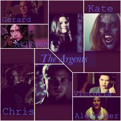 The Argent family                           Gerard                          /         \         Victoria-Chris      Kate                   |               Allison And idk where is Alexander, but he is a part of the family