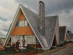 1950s+A+Frame+House