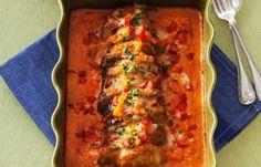 Lättlagad fläskfilégratäng som smakar härligt gott av både soltorkade tomater och örter. Perfekt festmat!