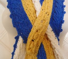 West Coast Eagles Pure Wool Supporter's Scarf - Support your team in style - AFL Headbands, Beanies, Hats. Scarves and Neck-warmers. All individually designed by Bar-Bar-A-Black Sheep and made to order. West Coast Eagles, Black Sheep, Neck Warmer, Beanies, Headbands, Scarves, Football, Pure Products, Bar