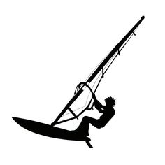 Wholesale 5pcs,10pcs,16cm*16cm Personality Sailing Surfing Funny Car Stickers Decal Black Silver