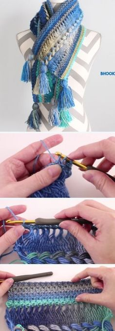How To Crochet Hairpin Lace Infinity Scarf