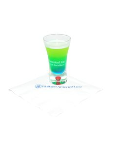 Big Game #Cocktail - Seahawk Slammer Shooter: Pour 0.75 oz. Midori and 0.75 oz. pineapple juice into a shaker filled with ice. Shake well and strain. Float 0.25 oz. Blue Curacao on top.