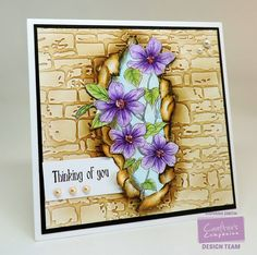 Using the Sheena Douglass 'Torn' collection from Crafter's Companion, colored with @SpectrumNoir