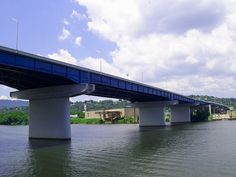 The P. R. Olgiati Bridge, aka Highway 27, was named after long time Chattanooga political boss P. R. Olgiati. The bridge, built in 1959, is a steel girder bridge.    This is the second bridge encountered during the 7 Bridges Marathon and the 4 Bridges Half.