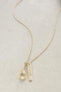 Pillar Pendant Necklace