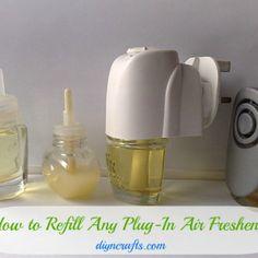 Money Saving DIY - How to Refill Any Plug-in Air Freshener - DIY  Crafts