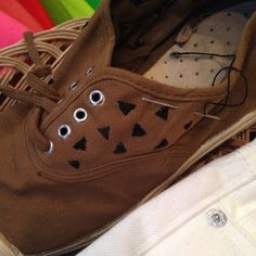 Embroidered sneakers by TheMissLinds #embroidery #upcycle #bensimon