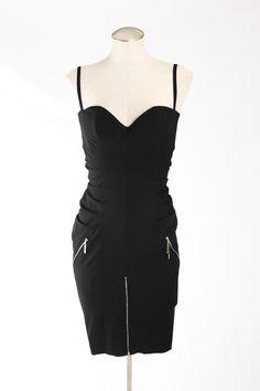 Christian Dior Paneled Corset Dress with Zipper Detail on @threadflip