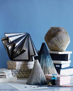 Learn how to turn old, damaged books into stunning paper sculptures with this tutorial from Sweet Paul magazine. #DIY