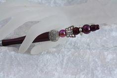 Kugelschreiber - Kugelschreiber Marsala Perlen schreiben silber  - ein Designerstück von trixies-zauberhafte-Welten bei DaWanda