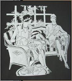 Paper Cut Art Deco Ladies