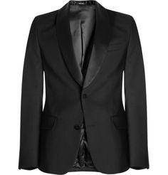 Maison Martin Margiela Slim-Fit Satin-Trimmed Tuxedo Jacket | MR PORTER
