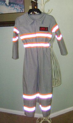 Pick up one of these great STRIPED style Ghostbusters jumpsuits for your child this year. This is the second version available. Please check my shop for the other listing of the plain jumpsuit. What a fantastically fun costume for your child to wear this year!!  I will only be making a few of these this season, so please, purchase yours early and beat that Halloween rush.  Please see this link for other related costumes…