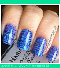 Fan Brush Striped Nails | simplenailartdesigns s.'s (simplenailartdesigns) Photo | Beautylish