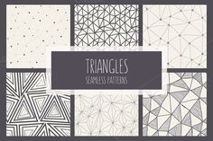 Check out Triangles. Seamless Patterns Set. by Curly_Pat on Creative Market