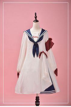 Pre-order ends May 2019 Kawaii Fashion, Lolita Fashion, Gothic Fashion, Op One Piece, Estilo Lolita, Japanese Costume, Sailor Outfits, Sailor Collar, Lolita Dress