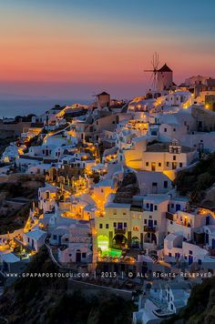 Oia  Colorfull night #Santorini http://brands.datahc.com/?a_aid=63082&brandID=286932