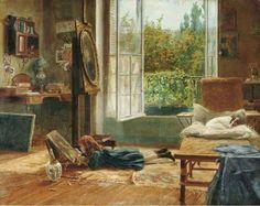 The Young Artist, Amerino Cagnoni (1853 – 1923, Italian)
