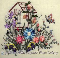 Wishing Well Brazilian Embroidery Design