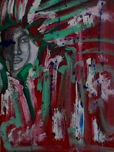 Experimental.  Pintura em acrílico sobre tela. Dimensão 40cm x 50cm. p.v.p. 60€