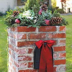 86 Fresh Christmas Decorating Ideas | Merry Mailbox Topper | SouthernLiving.com