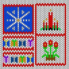 Beaded Christmas Motifs PATTERN chart  BeadBag: