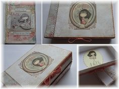 I decorated an old box and a notebook. Old Boxes, Decorative Boxes, Creativity, Notebook, Paper, Art, Old Crates, Art Background, Kunst