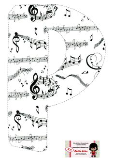 Music Themed Parties, Music Party, Arabesque, Rollin Stones, Birthday Letters, Music Crafts, Typo Logo, Alphabet And Numbers, 3d Letters
