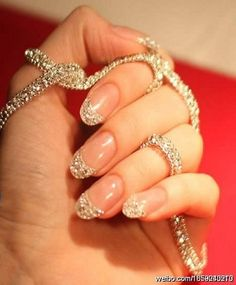 Diamonds are a girls best friend..want these nails