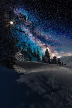 Follow the West Wind | plasmatics-life: Mountains night landscape | by:...