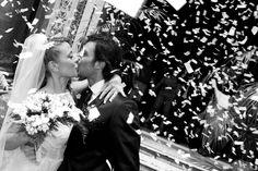 #nellodcesare #wedding #italian #black #white #bride #kiss
