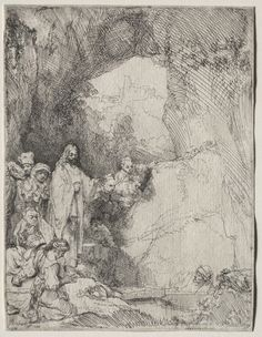 The Raising of Lazarus: Small Plate // 1642 // Rembrandt van Rijn // The Cleveland Museum of Art