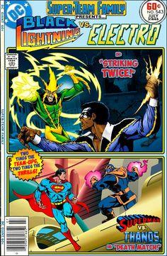 Black Lightning Vs. Electro / Superman Vs. Thanos