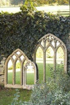 Garden Mirrors. Love This Idea!