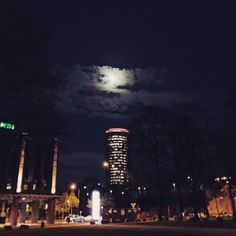 When theres moonlight. #CologneTriangle #Moon #Cologne...